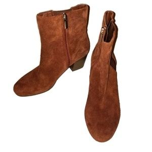 Bandolino Ankle Boots Suede leather sz 7.5 Brown